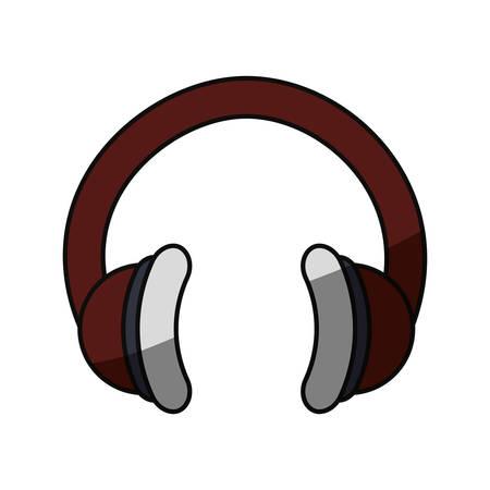 Music headphones technology icon vector illustration graphic design