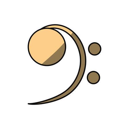 quaver: Music note isolated icon vector illustration graphic design Illustration