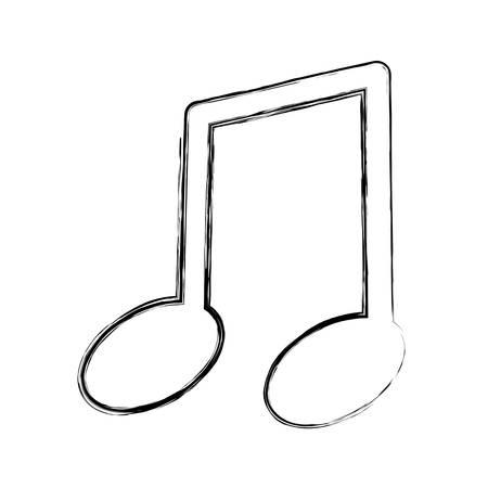 음악 노트 격리 된 아이콘 벡터 일러스트 그래픽 디자인