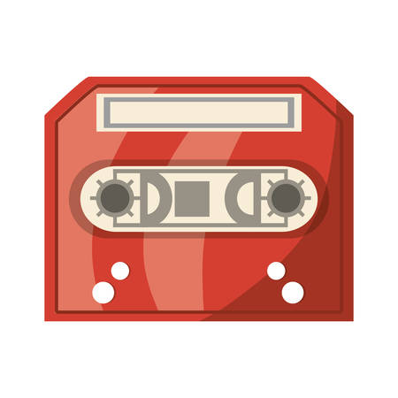 Old music casette icon vector illustration graphic design Illustration