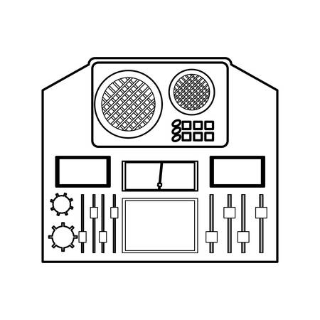 Music equalizer equipment icon vector illustration graphic design