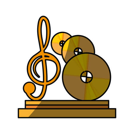 Music trophy award icon vector illustration graphic design Illustration
