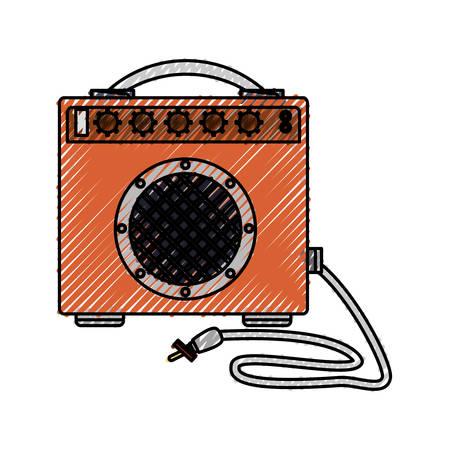 grabadora: Music speaker isolated icon vector illustration graphic design