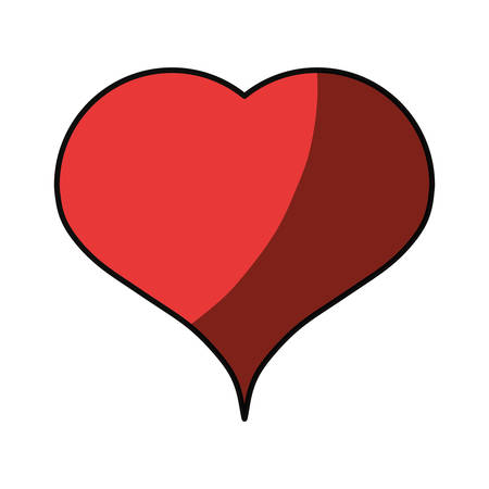 shadowed: Heart medical symbol icon vector illustration graphic design