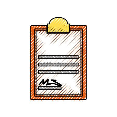 hoja de calculo: Documento con signo icono ilustración vectorial diseño gráfico Vectores