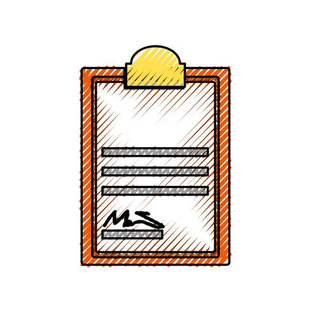 Document with sign icon vector illustration graphic design