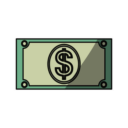 cent: Money billet isolated icon vector illustration graphic design