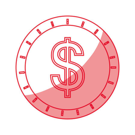Coin cash isolated icon vector illustration graphic design