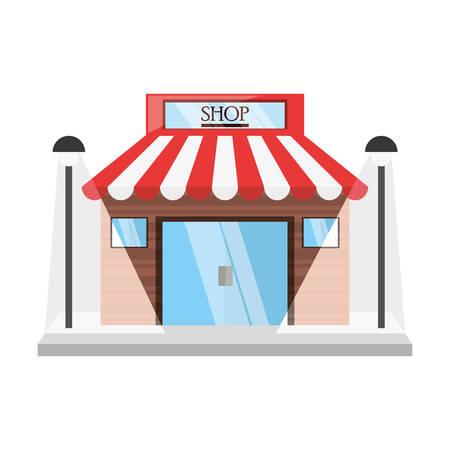 shopping center interior: Store retail building icon vector illustration graphic design Illustration
