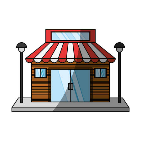 Store retail building icon vector illustration graphic design Illustration