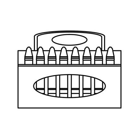 Crayons in box icon vector illustration graphic design 일러스트