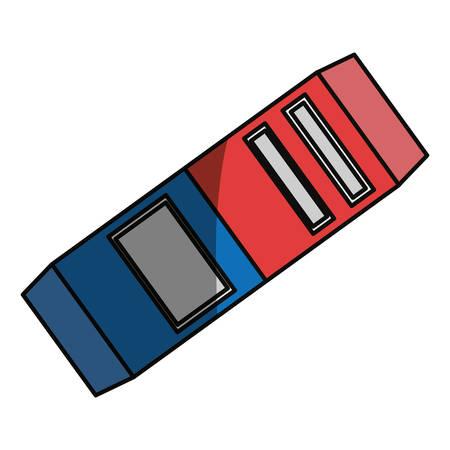 erased: Eraser school utensil icon vector illustration graphic design