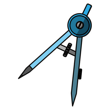 Compass geometry utensil icon vector illustration graphic design