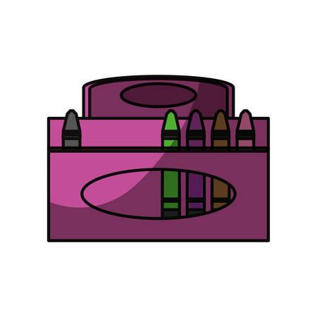 shadowed: Crayons in box icon vector illustration graphic design Illustration