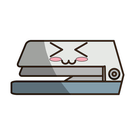office stapler: Stapler cute cartoon icon vector illustration graphic design