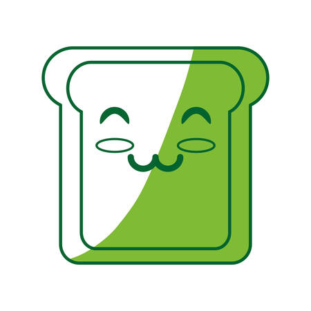 prepare: Slice of bread cartoon icon vector illustration graphic design