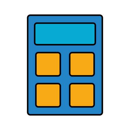 addition: calculator icon over white background vector illustration