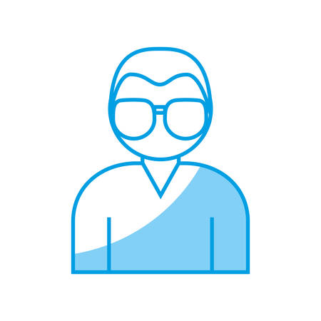 assortment: man with glasses icon over white background vector illustration Illustration