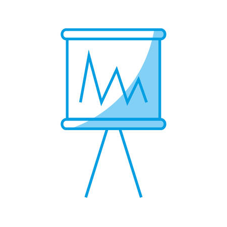 demographics: Financial chart icon icon over white background vector illustration