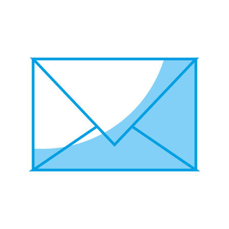 postmark: Envelope icon over white background vector illustration Illustration