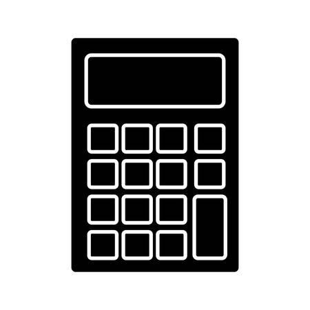 calculating: Calculator icon over white background vector illustration Illustration