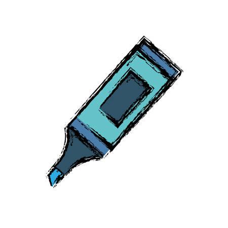 highlighter pen icon over white background colorful design vector illustration Illustration