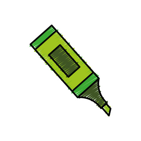 highlighter pen icon over white background vector illustration