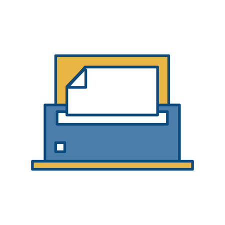 printout: printer icon over white background colorful design vector illustration Illustration