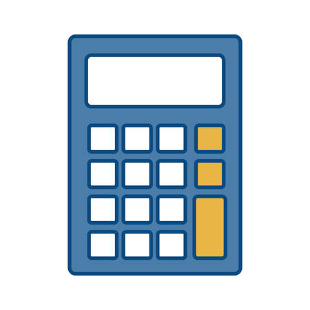 calculating: calculator icon over white background colorful design vector illustration Illustration