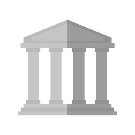 roman column: bank icon over white background vector illustration
