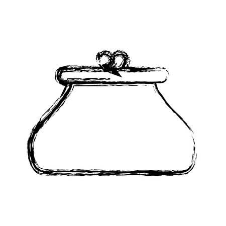 Purse accessory icon over white background vector illustration