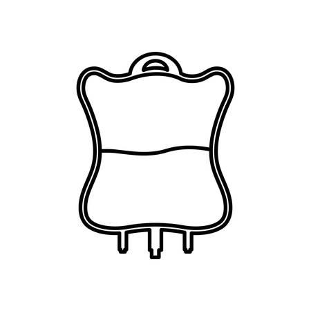 Blood bag icon over white background vector illustration.