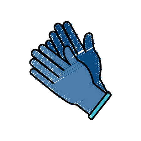 hands with medicine gloves icon over white background vector illustration Illustration