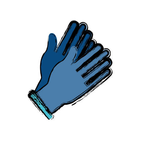 Hands with medicine gloves icon over white background vector illustration