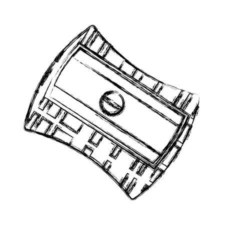 鉛筆削り分離アイコン ベクトル イラスト グラフィック デザイン