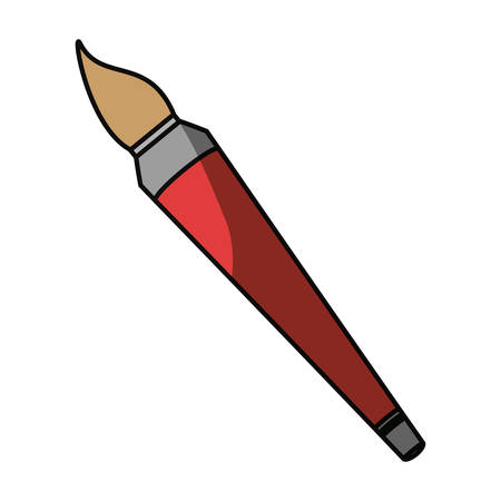 Paint brush isolated icon vector illustration graphic design