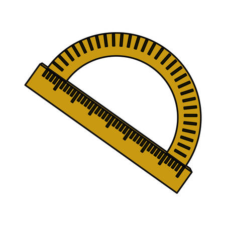 millimeters: Compass angle meter icon vector illustration graphic design