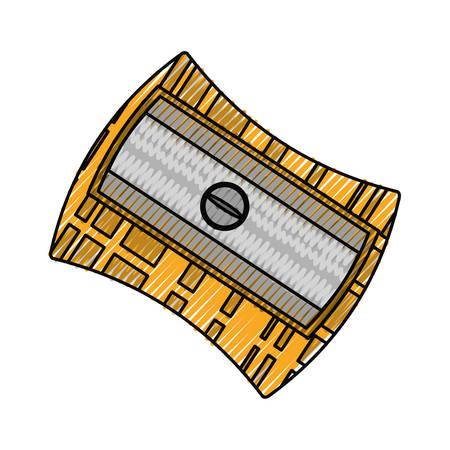 鉛筆削りは、アイコン イラスト グラフィック デザインを分離しました。 写真素材 - 81693301