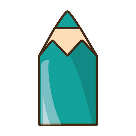 writing utensil: Pencil colors packaging icon vector illustration graphic design