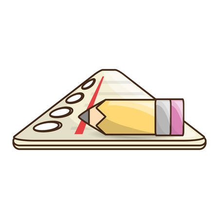 Cute note sheet icon vector illustration graphic design Illustration
