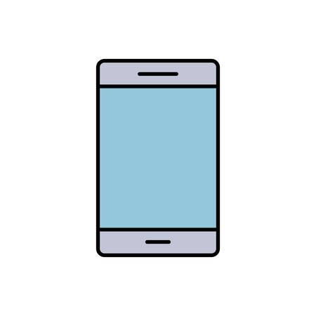 responsive: cellphone icon over white background vector illustration Illustration