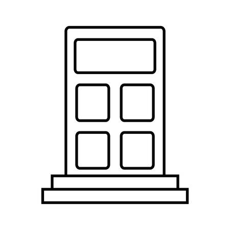 calculating: calculator icon over white background vector illustration