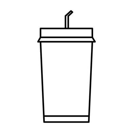 Soft drink icon over white background vector illustration