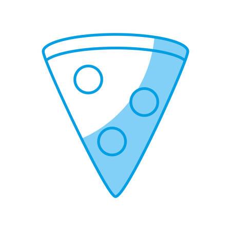 pizza slice icon over white background vector illustration Illustration
