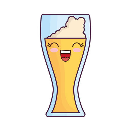 beers: beer glass icon over white background vector illustration
