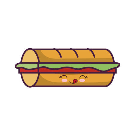 sandwich icon over white background colorful design vector illustration Illustration