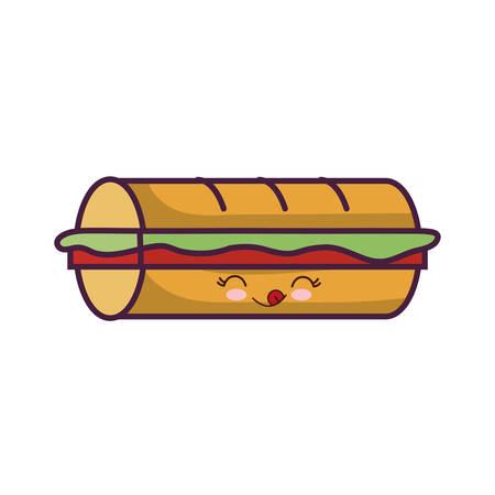 junkfood: sandwich icon over white background colorful design vector illustration Illustration