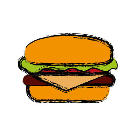 hamburger icon over white background colorful design vector illustration Illustration