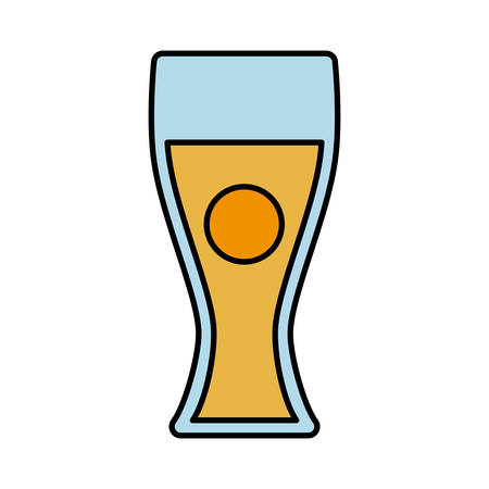 brewed: beer glass icon over white background vector illustration