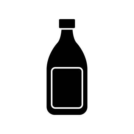 Wine bottle icon vector illustration